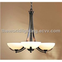 CHSI1012-Modern Simple Style Iron Glass Chandelier in China