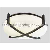 CL018-Black Iron Stand Glass Cover Modern Simple Ceiling Light China