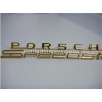 Car Emblem, Chrome Badge, gold or silver emblem