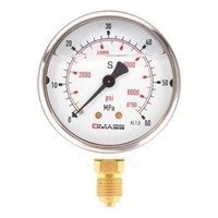 DMASS bourdon tube vibration resistant pressure gauge MBB06B