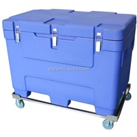 Dry ice storage container