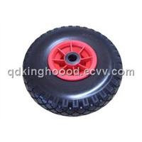 """Foam rubber  wheel, Hand truck wheel, Flat free tire 10""""x3.00-4"""