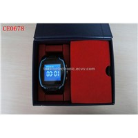 GPS watch tracker with SOS button and built-in microphone