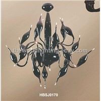 HBSJ0170-2012 New Style Art Metal Glass Chandelier