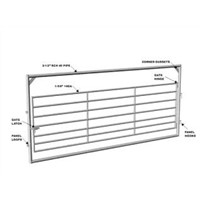 Heavy-Duty Square Corner Gate / Fence Gate