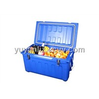 Insulation cooler box with rotomolding