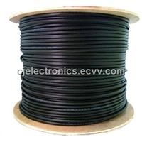 LAN Cable Cat5/e 5e12 350mhz Direct Burial Cat5e Outdoor Cable 24awg-Solid (Cj-Out301)