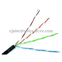 Lan Cable Cat5 / e 5e PE Sheath Water-Proof FTP Outdoor Cat5e Cable (CJ-OUT301)