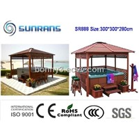 (Luxury design)wooden arbor for spa SR888 Gaden Gazebo