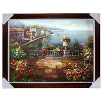 Med Painting, Garden oil painting, Knife painting