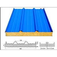 Metal Rock Wool (Mineral Wool) Sandwich Panel