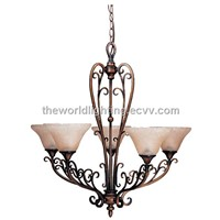 Modern Simple Style Iron Glass Chandelier