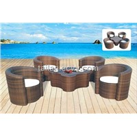 Outdoor Rattan Table & Chairs (TL TC-131)