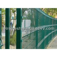 PVC coated ultra 358 wire mesh fencing system