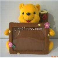 Plush 3D face doll & photo frame&plush animal