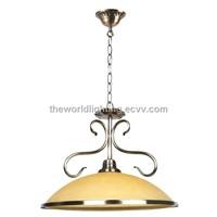 SK-1042-Chrome Metal Stand Green Reverse Bowl Shape Kitchen Pendant Lamp