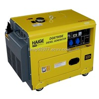 Small silent diesel generator set DG6700SE