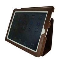 Unique Design Brown Leather IPad2 Case with All Button Accesses/HL-IP-001-2