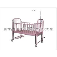ZBE12-B Stainless-steel High Rail Children Bed with Two Revolving Levers