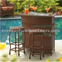 rattan bar set:  ESR-7189