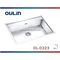 Single Bowl Kitchen Stainless Steel Sink (OL-0323)