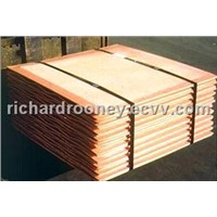 copper cathodes 99.9%