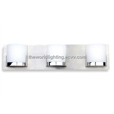 Chrome Metal Stand Glass Cover Modern Bathroom Vanity Light With 3 Bulbs China Bl6009 Bl6009