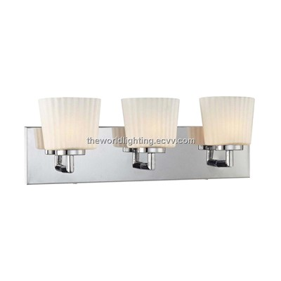 Chrome Metal Stand Glass Cover Modern Bathroom Vanity Light with 3 Bulbs China (BL6009) (BL6009 ...