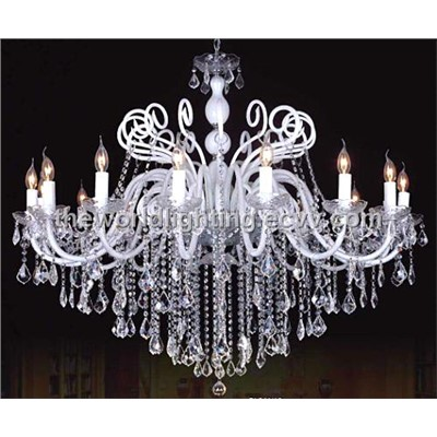 Cheap White Candle Crystal Chandelier AQ0202 10 5 China Crystal
