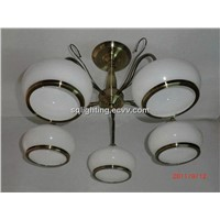 Low voltage G4,20W modern glass ceiling lamp X8011-5