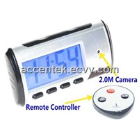 Mini Spy Alarm Clock DVR Camera ACE-RD57 with Motion-Detection & Remote Controller