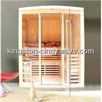 Modern Style Wooden Sauna room house with Full glass door