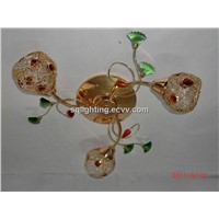 Traditional glass ceiling lamp W0645-3D