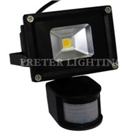 20 Watt Black Aluminum Alloy Outdoor LED Motion Sensor Flood Light AC 85 - 265V
