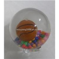 55mm LED Flashing Water Basketball
