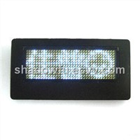 Digital LED name tag/badge