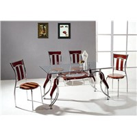 Dining sets include table and chair,  Modern design dining furniture.