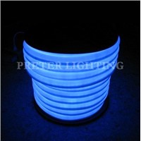 Environment Friendly 3.9W - 8W Amusement Park Blue Flex LED Neon Replacement Lighting