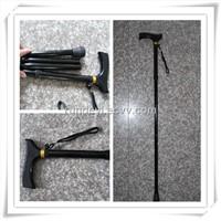 Folding Lightweight Walking Cane/Walking Stick,Elastic wrist strap