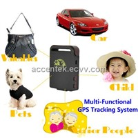 GPS102 GPS Tracker W/ SOS, geofencing & send position by SMS for Child, kids, elderly person safety