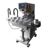 HP160BZ  convoeyor 2 color pad printing machine with ink tray