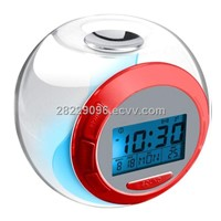 LED color change alarm clock with calendar for gifts and promotion