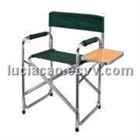 Lesiure Chair/camping chair with Convenient Table, Made of 600D PVC and 24 x 1.0mm Aluminum Tube