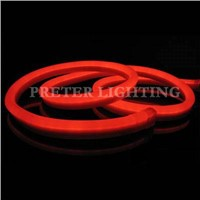 Low Voltage 80 / 100 / 120 Pcs / Meter Red Amusement Park LED Neon Flex Light