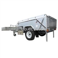 Off-road Camper Trailer with Tent and LED Submersible Tail Lights