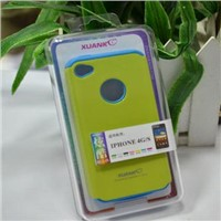 PC+silicone case for iPhone 4S