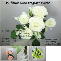 PU Flower rose  Fragrant Flower Real touch feelings Artificial Flower