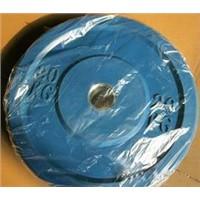 Solid rubber bumper plate