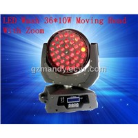 Stage Light Disco LED Wash 36*10W Moving Head With Zoom