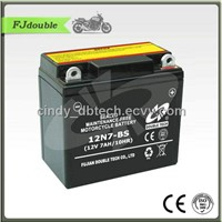 Standard Dry Charged Motorcycle Battery 12N7-4B(12V 7AH)With High Quality